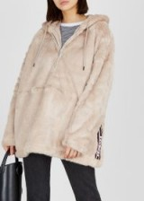 REPLAY Cream faux fur jacket ~ casual luxe