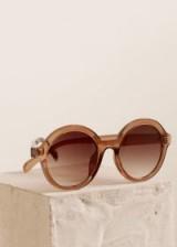 MANGO Retro style sunglasses in pink   1970s style sunnies