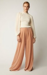 Ulla Johnson Rhett Velvet Wide-Leg Pants in Pink ~ floaty luxe trousers