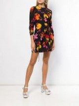 RIXO LONDON Gianna floral print dress / front ruffled mini