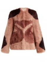 RAEY 1970s tiger-shearling coat   pink retro boxy jacket