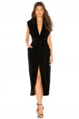 Sabina Musayev IRIS VELVET DRESS in Black – luxe style partywear