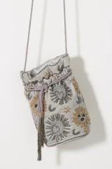 St Xavier Sabine Grey Velvet Sun & Moon Drawstring Bag | luxe beaded bags