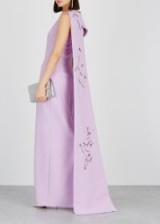 SAFIYAA Lavender sequin-embellished gown ~ stunning draped gowns