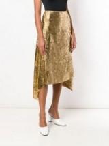 SIES MARJAN gold asymmetric skirt / shiny fashion