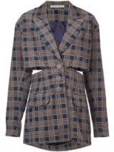 SILVIA TCHERASSI cut-out checkered jacket