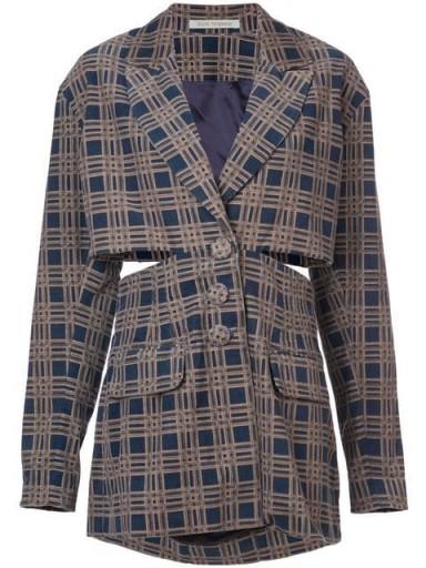 SILVIA TCHERASSI cut-out checkered jacket