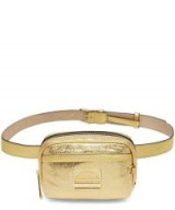 MARC JACOBS Gold Leather Sport Belt Bag – metallic bum bag – sporty accessory