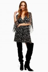Topshop Star Mini Dress Black | retro fashion