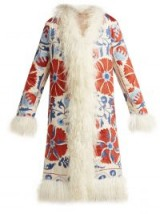 ZAZI VINTAGE Suzani embroidered shearling coat ~ retro clothing