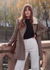 SÉZANE Billy coat in ECRU OCHRE CHECKS | checked autumn/winter coats