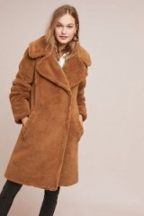 Seen Worn Kept Teddy Faux-Fur Coat in Brown