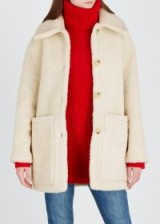 TORY BURCH Oliver reversible cream shearling coat