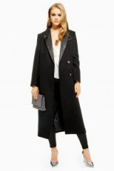 TOPSHOP Tuxedo Coat in Black – winter style