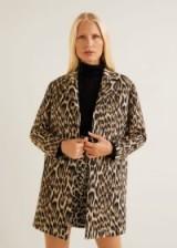 MANGO Unstructured leopard coat in brown – SAFARI | animal print coats