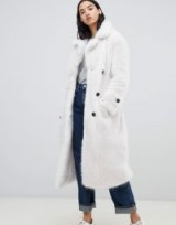 Urban Code Fendora faux fur trench coat in White – luxe winter coats