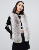 Urban Code Jaycee faux fur luxury gilet in Bambi – luxe gilets
