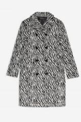 Topshop Zebra Print Coat in Monochrome | retro mono print coats