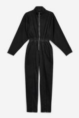 Topshop Zip Up Boilersuit in Black | retro jumpsuit