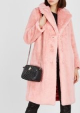 ALICE + OLIVIA Foster pink faux fur coat – winter luxe