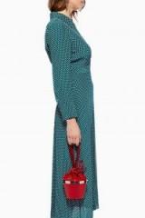 Topshop Aly Clip Frame Grab Bag in Red | micro handbag