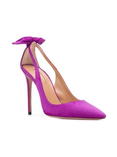 AQUAZZURA Deneuve pumps in amethyst