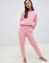 ASOS DESIGN Lounge super soft sweat and jogger twosie in pink – snugly loungewear – Xmas gift