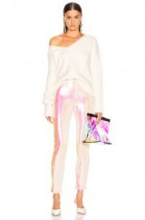 BALMAIN Sequin Leggings in Mother of Pearl   glam party pants
