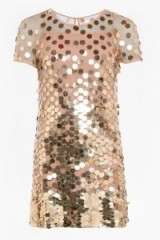 FRENCH CONNECTION BASU SPARKLE TUNIC DRESS in Gold | metallic party dresses