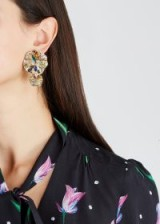 BAUBLEBAR Nisha gold-plated crystal and bead embellished drop earrings