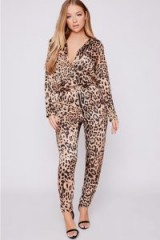 BILLIE FAIERS BROWN LEOPARD CIGARETTE LEG TROUSERS – slinky animal print pants