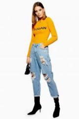 Topshop Bleach Super Ripped Hayden Jeans | destroyed denim