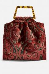 Topshop Caz Porto Carpet Tote Bag in Pink