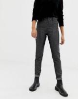 Cheap Monday black sparkly high waist jean with organic cotton   glittering denim jeans
