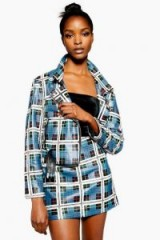 Topshop Check Diamante Leather Mini Skirt   embellished checked skirts