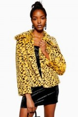 Topshop Cheetah Print Faux Fur Coat   animal prints   glam winter jackets