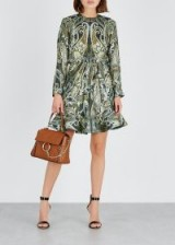 CHLOÉ Paisley-print metallic-weave dress ~ luxe boho clothing