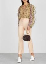 CHLOÉ Porcelain cropped stretch-wool trousers ~ pretty pale-pink pants