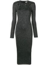 CHRISTOPHER KANE knitted glitter bodycon dress | luxe sweater dress