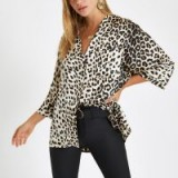 River Island Cream leopard print button-up blouse | animal prints
