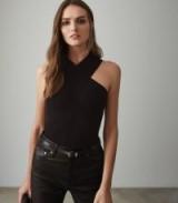 REISS DANA CROSS FRONT TOP BLACK ~ instant evening glamour