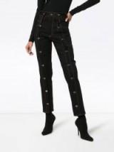 DELADA black button detail cropped jeans