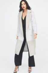 Lavish Alice double breasted wool coat with faux fur panelling | luxe style winter coats