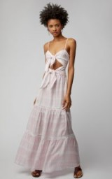 Jonathan Simkhai Dual-Tie Maxi Dress / strappy cut-out sundress