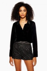 TOPSHOP Embellished Shorts in black / sparkly going out fashion