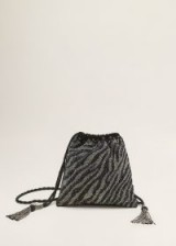 MANGO Embroidered bucket bag – CEBRA | sparkly party bags
