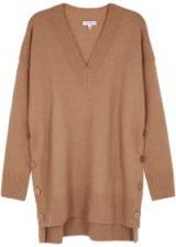 EQUIPMENT Cortis oversized camel wool-blend jumper | stylish knitwear