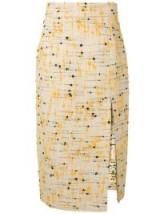 ERIKA CAVALLINI bouclé-tweed skirt in ecru