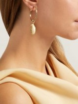 ARON & HIRSCH Etiope 18kt gold and sapphire hoop earrings ~ luxe statement hoops
