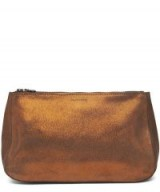 TRACEY TANNER Fatty Large Leather Pouch in Copperfield
